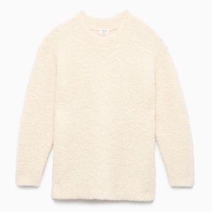 ARITZIA Seissan Aplaca Crew Neck Sweater Cream XS